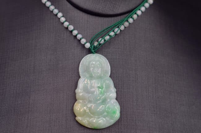 jade white green yellow buddha