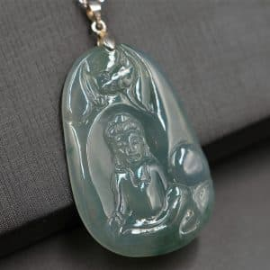 Authentic jadeite Buddha pendant