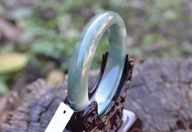 Helen Grade A Jade Jade dark green bracelet 54mm 1045