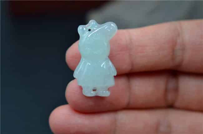 Helen Grade A Jade Jade icy  pepper pig jade kid pendants certificated 475