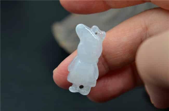 jade pig white pendant