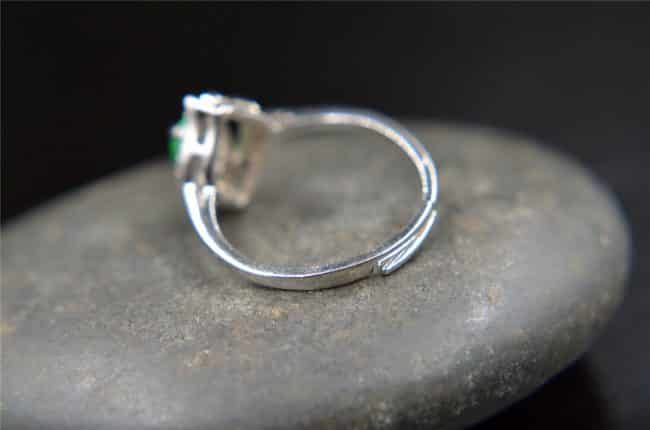 Helen Grade A Jade Chinese jade ring sterling 925 size R017