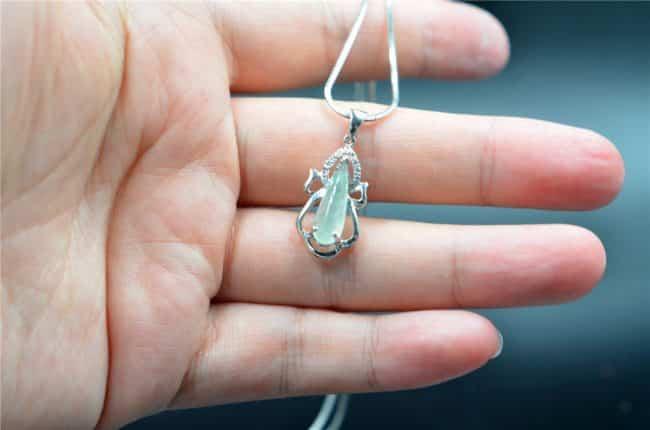 icy jade pendant