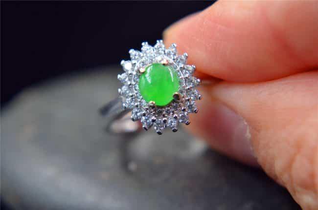 jade ring silver