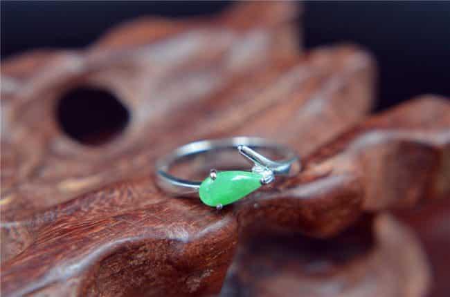 Jade gemstone silver 925