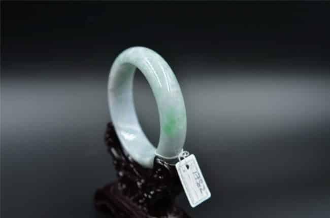 green Chinese jade bangle