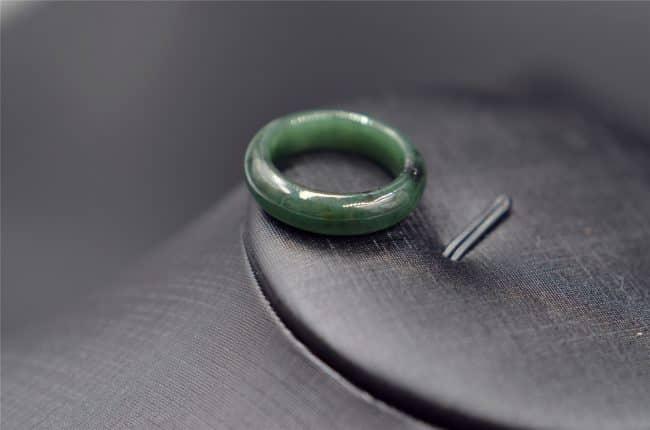 Jadeite ring genuine