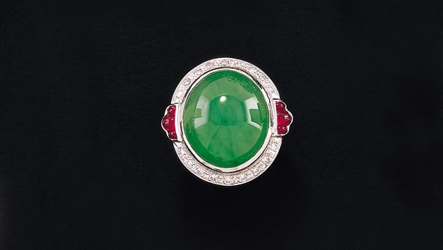 Jade jewelry is popular in China