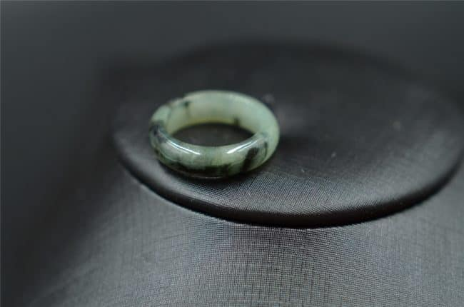 Helen Grade A Jade Jade band ring Burma grade A gemstone R5 18mm