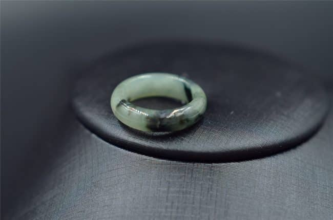 jade band ring Burma grade A gemstone R5