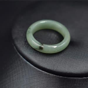 Genuine jade ring Burmese stone R10 18.5mm