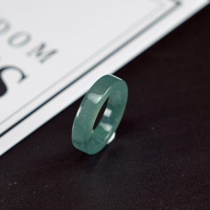 Genuine jade ring blue color thin jadeite grade A natural 15.9mm 27121914