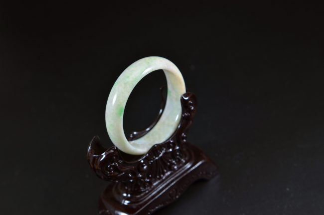 Solid Baby Jade Bangle oval shape small size bangle 47mm 13102003