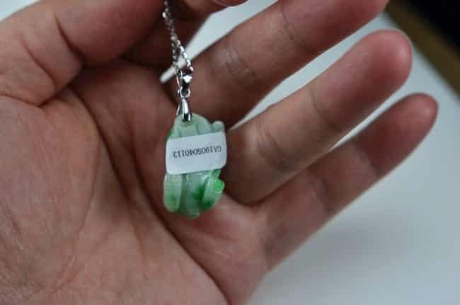 Natural Jadeite Brave Troops Pendant Burma Jade PiXiu Amulet Figurine 0113