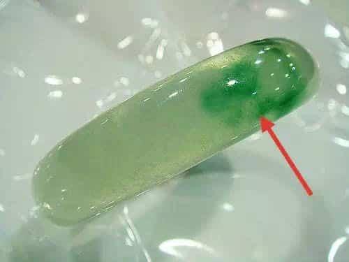 Dyed fake jade bangle