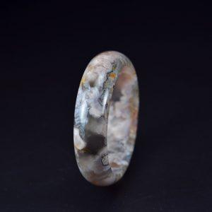 Natural Stone Sakura Agate black bangle 60mm 20052005