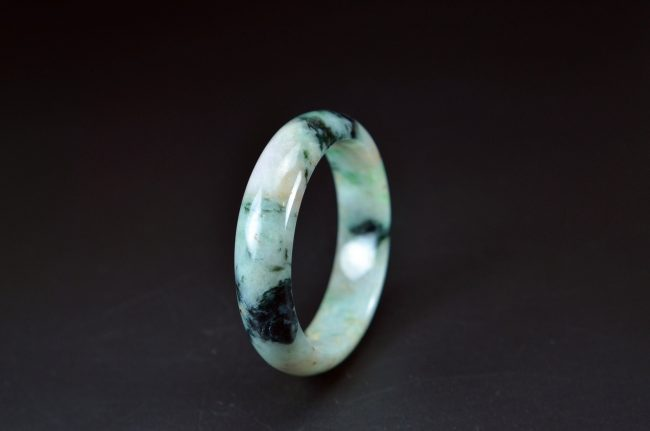 White Burma Genuine Jadeite Bangle 58mm 20052098