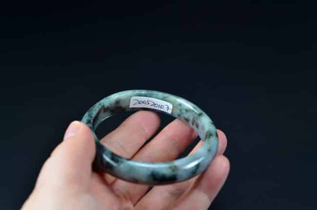 Helen Grade A Jade Asian Jewelry Natural Jadeite Bangle 57mm 200520107 200520107