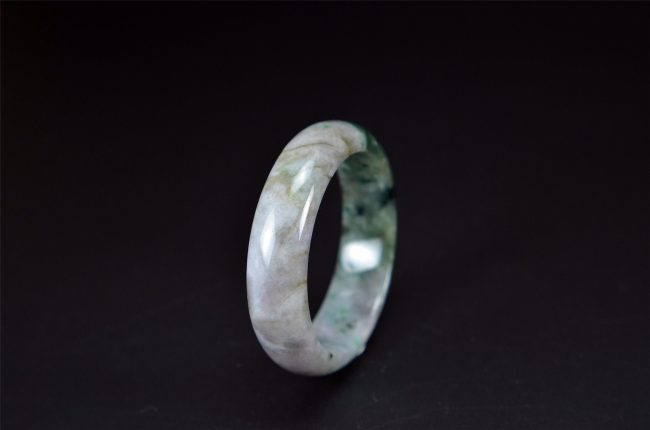 Helen Grade A Jade Light Green Type A Jade Bangle 54 mm 200520124 200520124