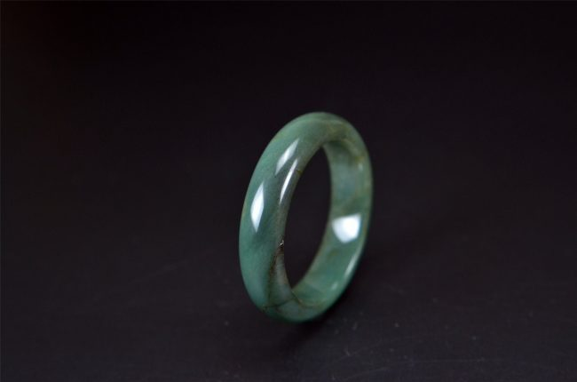 Helen Grade A Jade Smooth Green Jade bracelet Bangle 50 mm 200520131 200520131