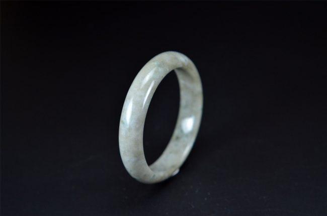Helen Grade A Jade Burmese Round Jade Bangle 58 mm 200520153 200520153