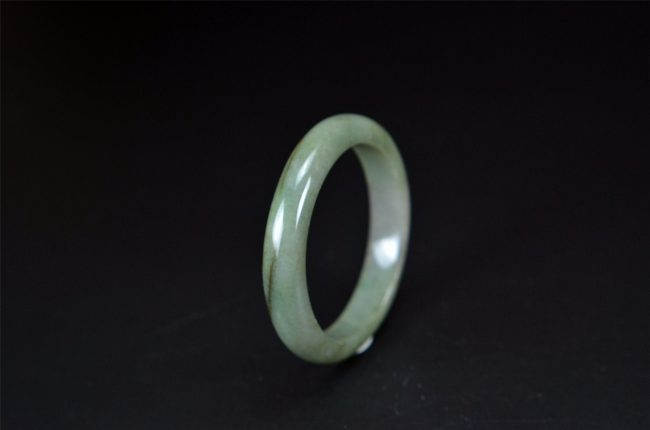 Real Type A Burmese Jadeite Bangle 55 mm 200520156
