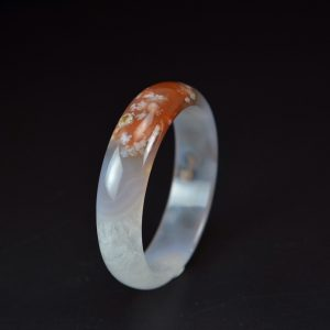 Icy Madagascar cherry blossoms agate bangle 61mm 20052004