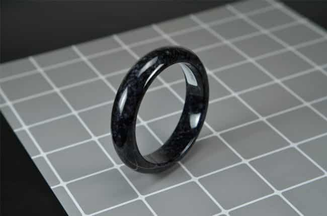 Handmade Black Jade Bangle 58mm 200520164