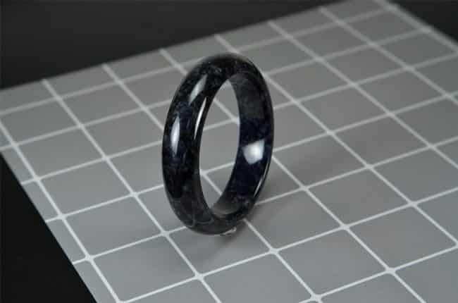 Helen Grade A Jade Handmade Black Jade Bangle 58mm 200520164 2005200164