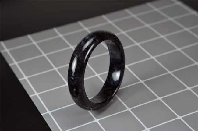 Natural Black Jade Bangle 58mm 200520165