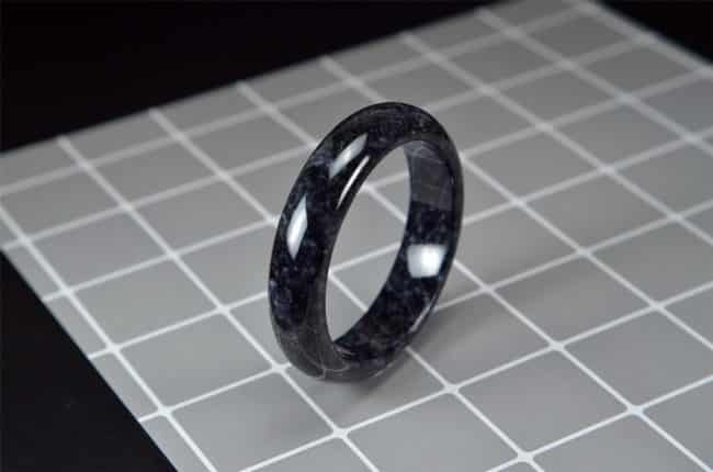 Jadeite Jade Pure Black Bangle 57mm 200520172