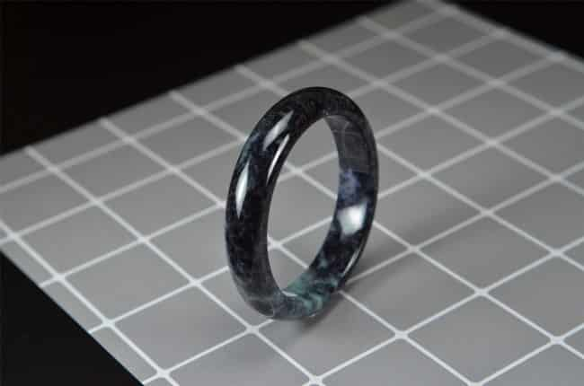 Helen Grade A Jade Green gemstone Jade Black Bracelet 56mm 200520179 2005200179