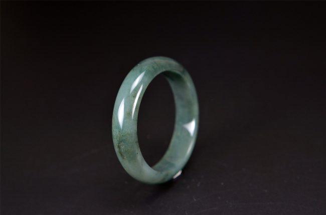 Oil Green jade stone bracelet Bangle 54 mm 200520130