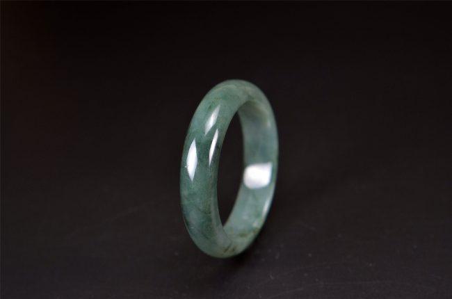 Helen Grade A Jade Oil Green jade stone bracelet Bangle 54 mm 200520130 200520130