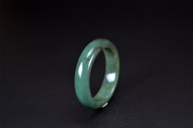 Smooth Green Jade bracelet Bangle 50 mm 200520131