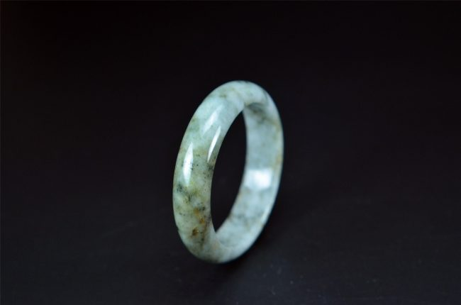 Hand-carved Oil Green Jade Bangle 57 mm 200520152