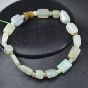 Jade beads real genuine Burma jadeite bracelet square icy tube 03072006