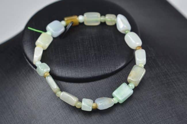 Jade beads real genuine Burma jadeite bracelet square icy tube 03072006