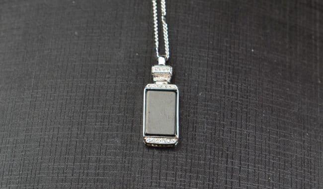 Helen Grade A Jade Natural Black jade silver 925 perfume Bottle 03072047 3072047