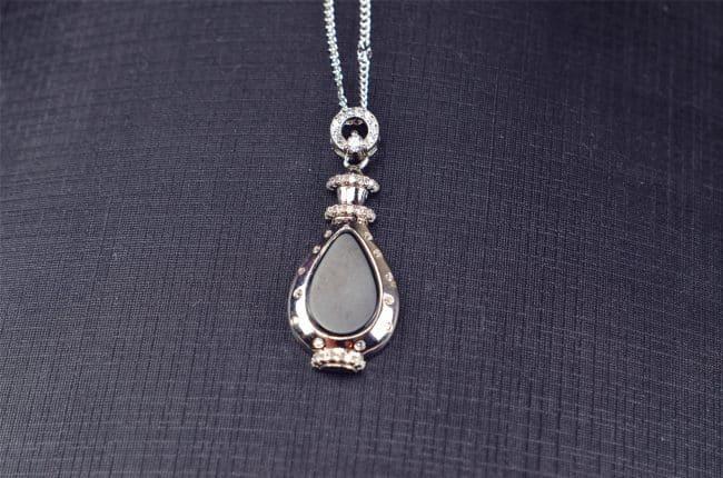 Helen Grade A Jade Natural Black jade silver 925 Vase 03072049 3072049