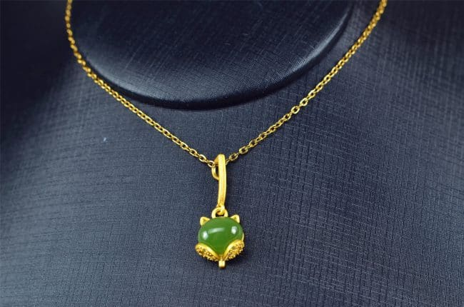 Helen Grade A Jade Bi jade Jasper green Jasperite silver 925 necklaces Pendant 03072062 3072062