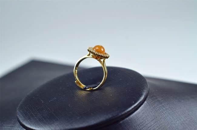 Helen Grade A Jade Jade ring Natural untreated jadeite stone Handmade size free silver plating setting 03072071 3072071