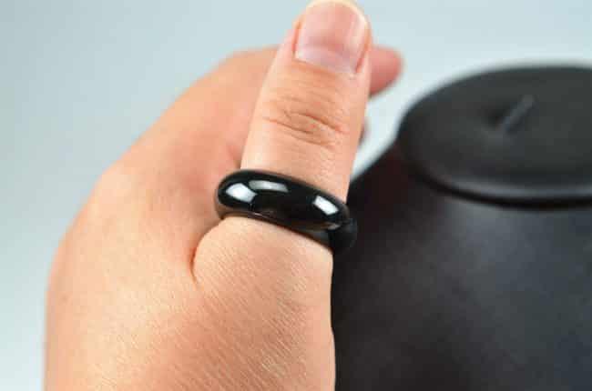 Helen Grade A Jade Jade icy jadeite rings stone band ring light black 03072072 3072072