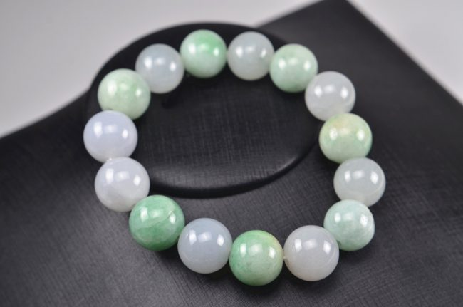 Helen Grade A Jade Jade beads real genuine Burma jadeite bracelet for men 14 mm 03072004 3072004