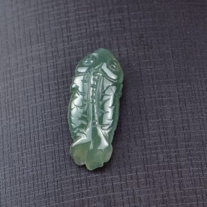 Natural Jade Pendant Dark green Fengshui Enhance Necklace 03072022