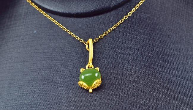 Bi jade Jasper green Jasperite silver 925 necklaces Pendant 03072062
