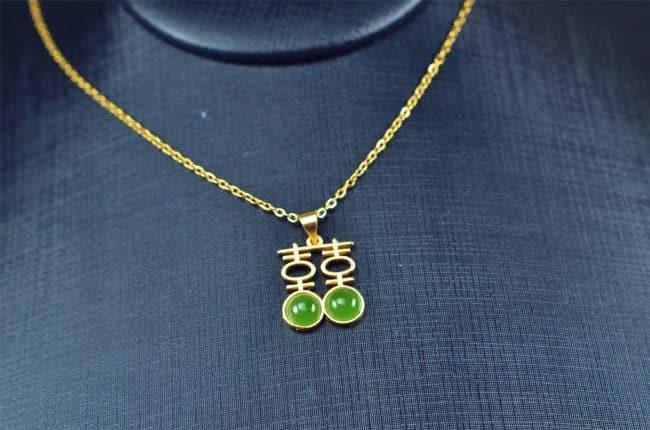 Helen Grade A Jade Bi jade Jasper green Jasperite silver 925 necklaces Pendant 03072061 3072061