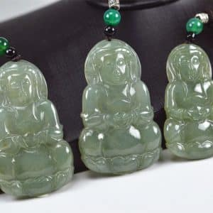 Kwan yin Buddha Pendant Necklace- Gift for Buddhist 03072074