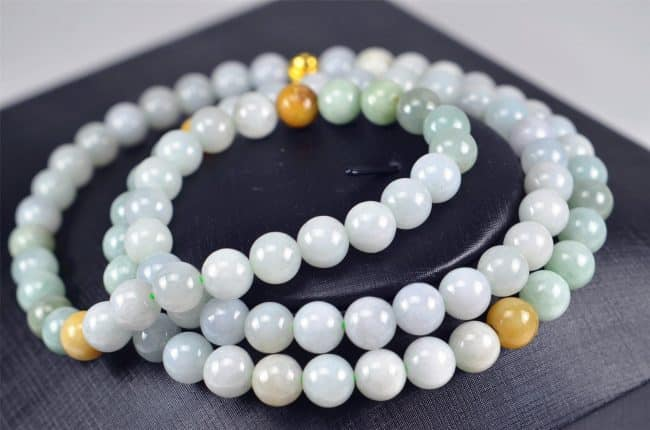 Multicolor jade beads real genuine Burma jadeite bracelet 9 mm 03072075