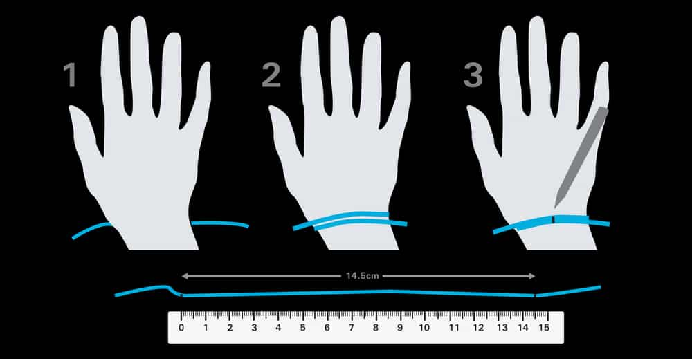 measure wrist size for bangle